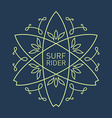 Surfing vintage label for surf board or tee vector image vector image