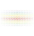 sword spectrum halftone array vector image vector image