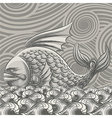 The giant fish vector image vector image
