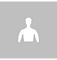 Unknown male computer symbol vector image vector image
