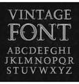 Vintage patterned letters Vintage font in floral vector image vector image