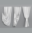 white window curtains on transparent background vector image vector image