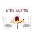 wine tasting poster red wine cheese vector image vector image