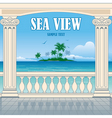 wonderful sea view vector image vector image