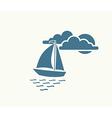 yacht sea symbol vector image