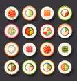 sushi icon set vector image