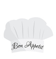 Chef hat with text bon appetit vector image