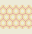 abstract geometric pattern with hexagons vector image vector image