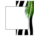 abstract natural background with zebra skin vector image