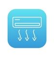 Air conditioner line icon vector image