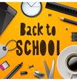 Back to school template with office supplies vector image