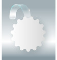 blank white wobbler hang on wall mock up 3d vector image vector image