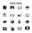 book icons set graphic design vector image vector image