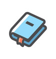 book with bookmark icon cartoon vector image