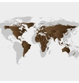 Brown World Map vector image vector image