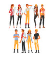 building workers and architects characters set vector image vector image
