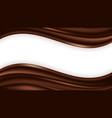 chocolate wave swirl background wavy satin vector image vector image