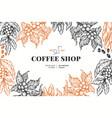 coffee tree branch vintage coffee background vector image vector image