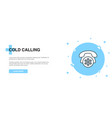 cold calling icon banner outline template concept vector image vector image