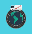 delivery service worldwide logistic business vector image