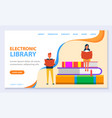 educating with books in online library vector image vector image