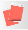 fabric samples textile swatch template vector image vector image