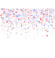 flying red blue white star sparkles vector image