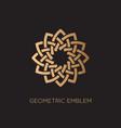 geometric emblem vector image