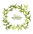 Green bamboo wreath vector image vector image