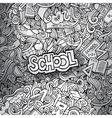 hand drawn school sketch background vector image vector image
