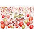 happy birthday typography design for greeting vector image vector image