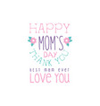 happy moms day logo template best mom thank you vector image vector image