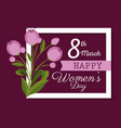 happy womens day celebration postcard vector image