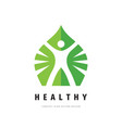 healthy human logo template design healthcare vector image vector image