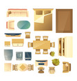 home furniture and appliances cartoon set vector image