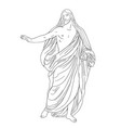 jesus christ in a shroud vector image