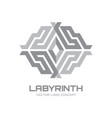 labyrinth - logo template concept vector image