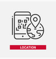 location qr code - line design single isolated vector image vector image