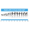 man ages icons vector image vector image