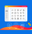 marketing line icons strategy feedback vector image vector image