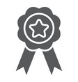 medal glyph icon sport and prize award sign vector image vector image