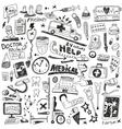 Medicine - doodles set vector image vector image