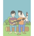 Men playing guitar vector image vector image