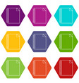 notebook icons set 9 vector image vector image