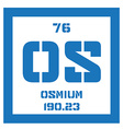 Osmium chemical element vector image vector image