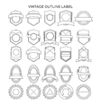Outline vintage label collection vector image vector image