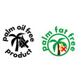 palm oilfat free product icon tree and drop vector image
