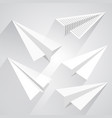 paper airplane set vector image vector image