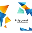 Premium low poly geometric banner design concept vector image