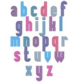 Retro style striped font vector image vector image
